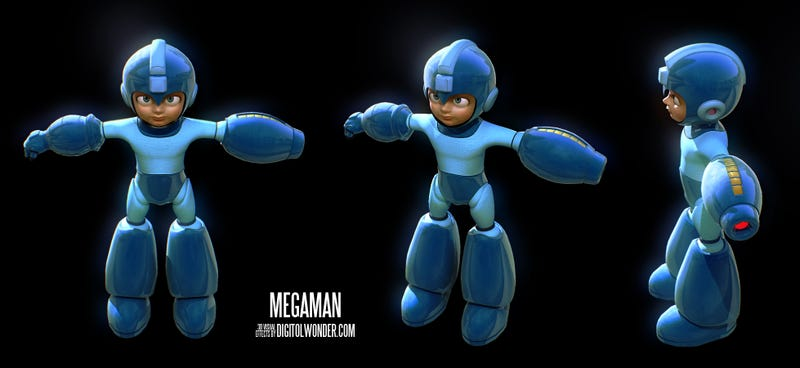 Illustration for article titled If Mega Man Was A Hollywood Cartoon, It Would Look A Lot Like This [Update]