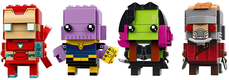 Illustration for article titled Exclusive: Thanos, Iron Man, Gamora, and Star-Lord Are Getting the Lego Brickheadz Treatment