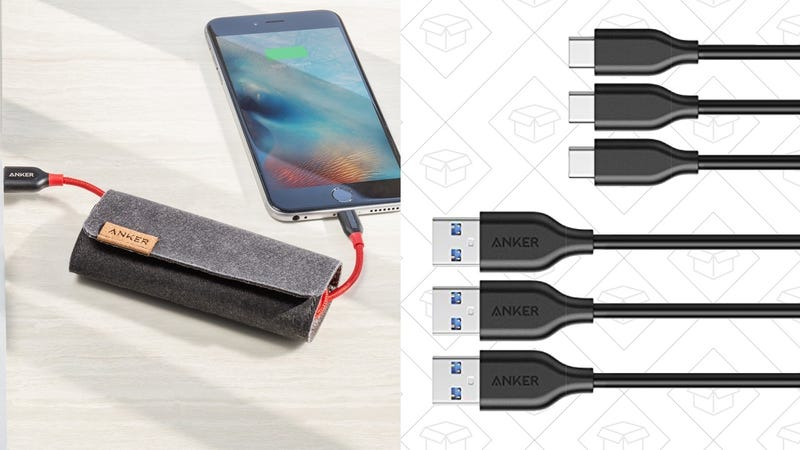 2-Pack Anker PowerLine+ Lightning Cables | $22 | Amazon 3-Pack Anker PowerLine USB 3.0 to USB-C Cables | $11 | Amazon | Promo code ANKER863