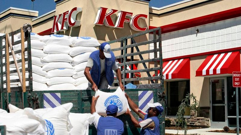 kfc distribution This is a listing of countries with kfc franchises as of year end 2014, there are 18,875 kfc outlets in 119 countries and territories in june 1994, manuel u agustines obtained the sole franchise over the sale and distribution of kfc products in the philippines.