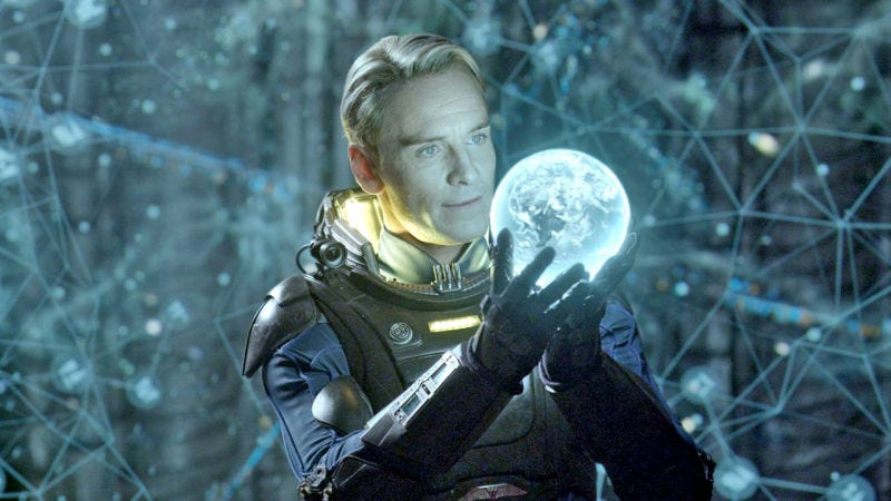 Illustration for article titled The Severed Head of Cyborg Michael Fassbender Keeps Dropping More Alien: Covenant Hints
