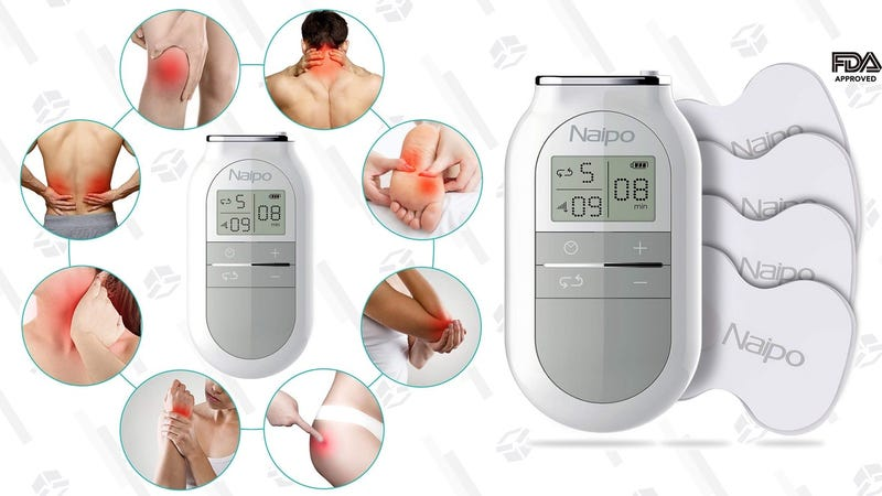 Naipo TENS Massager | $13 | Amazon | Promo code TSIAQZZZ