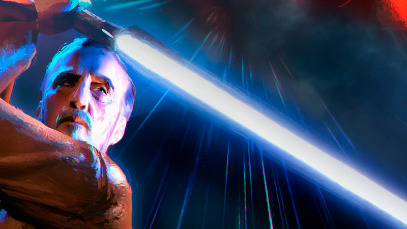 Dooku before his fall, as seen in the artwork for Jedi Lost.