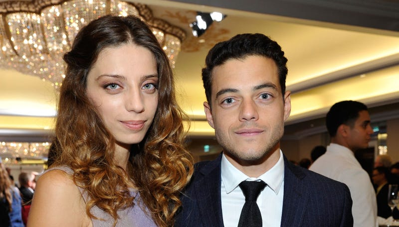 Angela Sarafyan and Rami Malek at the 8th Annual GLSEN Respect Awards held at Beverly Hills Hotel on October 5, 2012. Image via Getty.