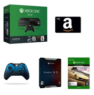 Illustration for article titled I can't afford to abandon my life, but Amazon has an Xbox One with Forza Horizon 2 and a $50 gift card for $279