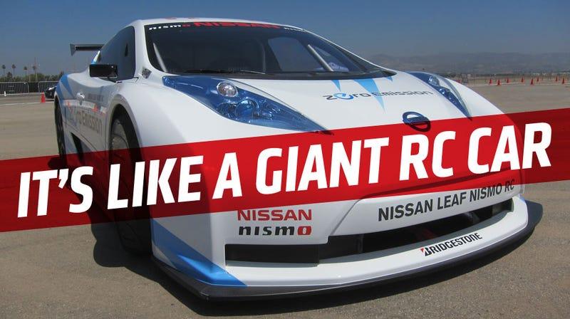 Illustration for article titled The Nissan Leaf NISMO RC Is A Legit EV Racer