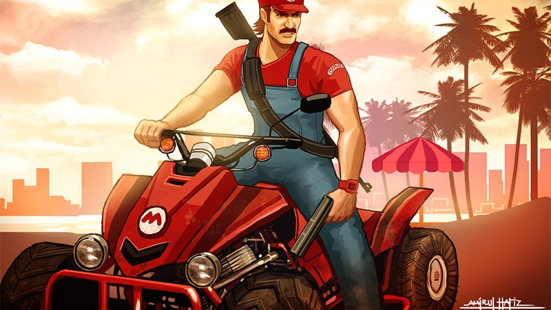 Illustration for article titled Grand Theft... Mario Kart