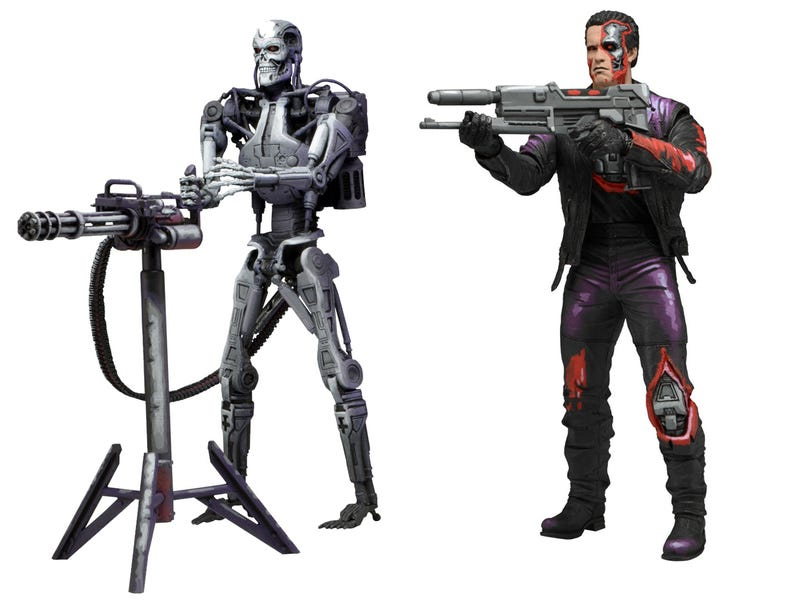 Illustration for article titled Robocop Vs. The Terminator Toy Line
