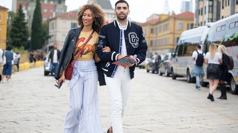 Teen Vogue editor Elaine Welteroth with digital editorial director Phillip Picardi (Photo: Melodie Jeng/Getty Images)