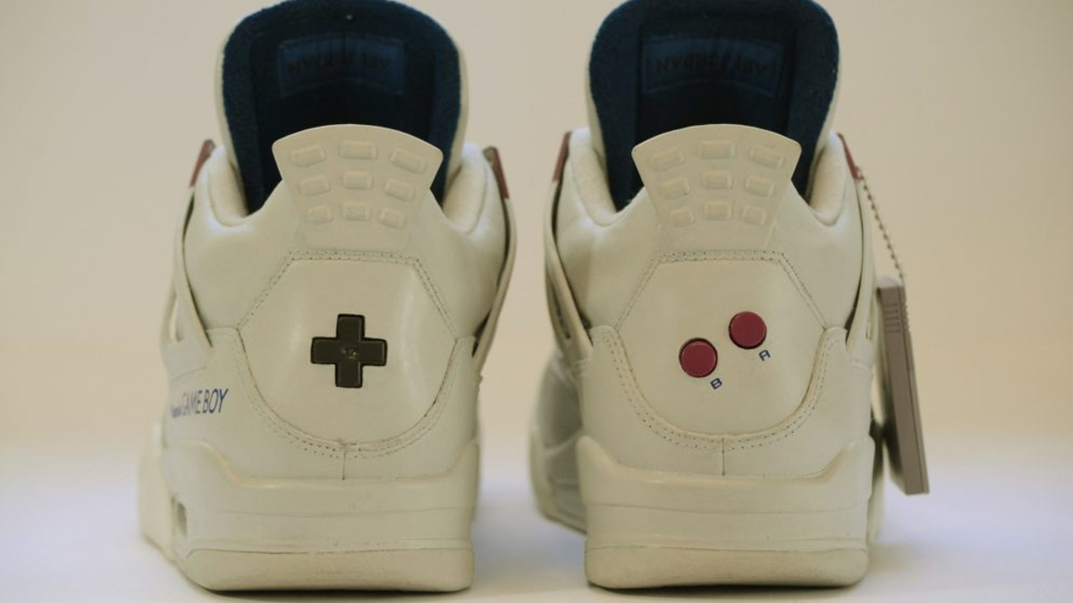 on sale 5d179 15dd0 These $1,350 Game Boy-Themed Jordans Almost Look Worth It