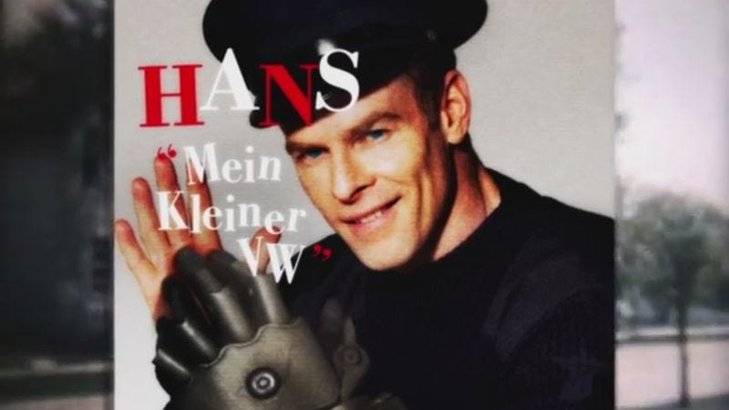 Illustration for article titled Wolfenstein imagines what '60s pop would have been like if the Nazis had won