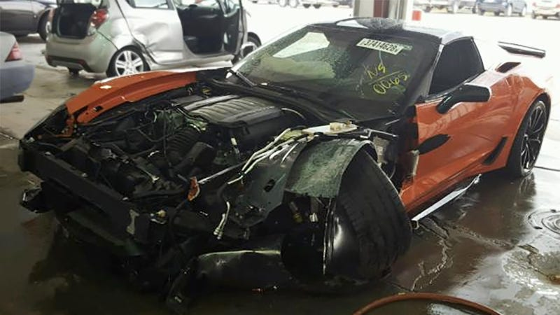Illustration for article titled This 2019 Chevy Corvette Lived a Tragic 15 Miles [Updated]