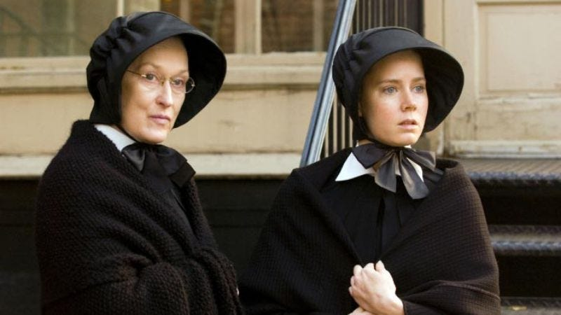No, they didn't recast the show with Meryl Streep and Amy Adams from the movie Doubt, but wouldn't that be great?