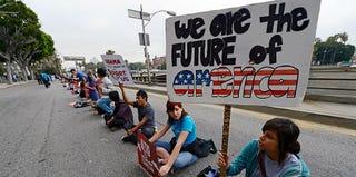 Students protesting deportation in June 2012 (Kevork Djansezian/Getty Images)