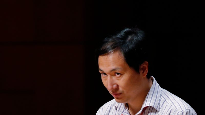 Geneticist He Jiankui at the Human Genome Editing Conference in Hong Kong, November 28, 2018.