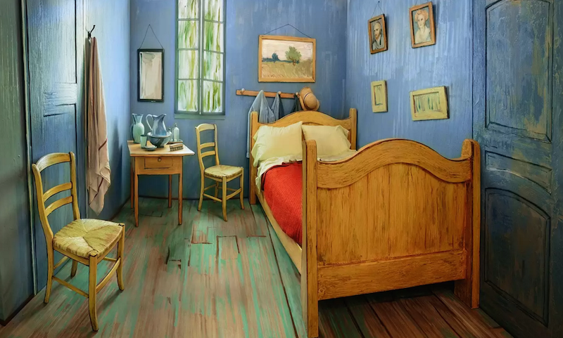 Illustration for article titled You Can Rent Van Gogh's 'Bedroom in Arles' on Airbnb in Chicago