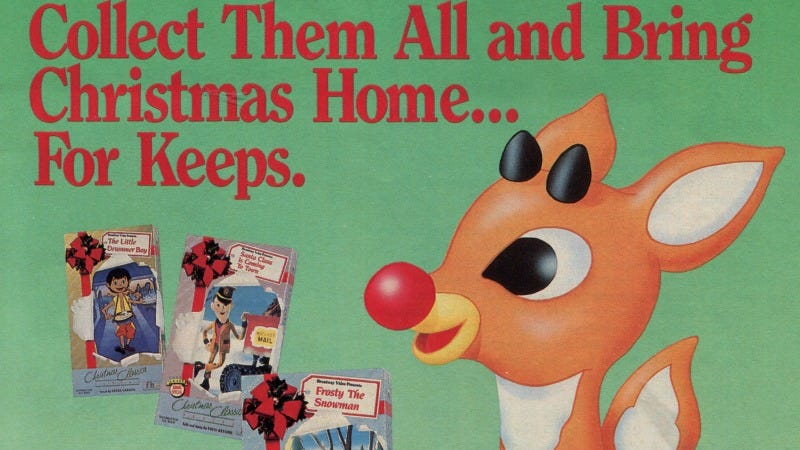 Illustration for article titled 12 Days of Christmas Presents Past: Your Favorite Seasonal VHS Tapes From Blockbuster