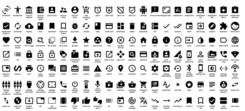 Illustration for article titled Google Just Released Hundreds of Cool Icons That You Can Use For Free