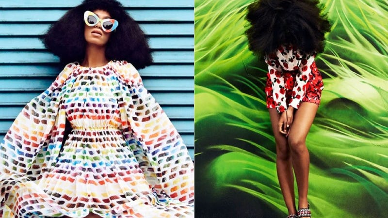 Illustration for article titled Solange Serves Up All the Colors of the Rainbow in Bazaar