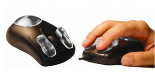 Illustration for article titled PADandCLICK Gel Pads Stick to Your Mouse for More Comfortable Clicking
