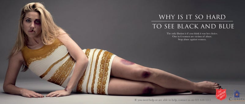 Illustration for article titled Salvation Army Uses That Goddamn Dress in an Anti-Domestic Violence Ad