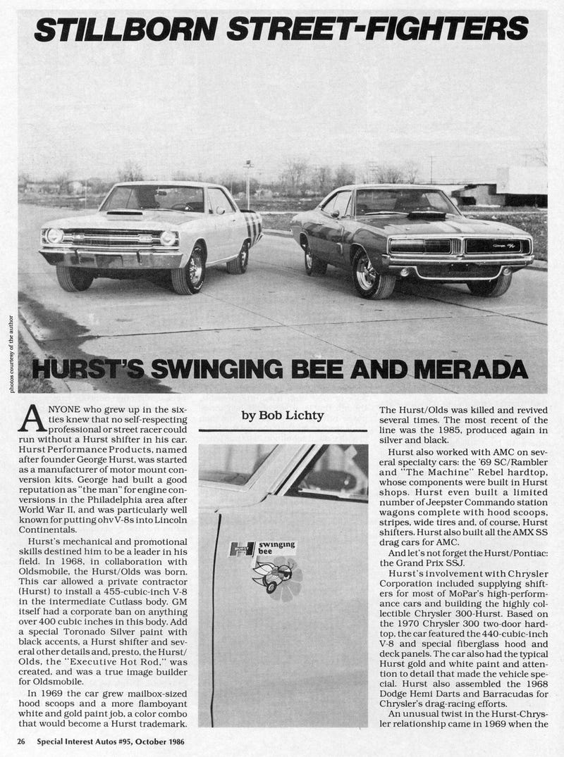 Illustration for article titled Hurst Swinging Bee and Merada