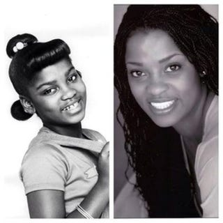 Danielle Spencer as Dee in the '70s sitcom What's Happening;Spencer todayABC; Danielle Spencer