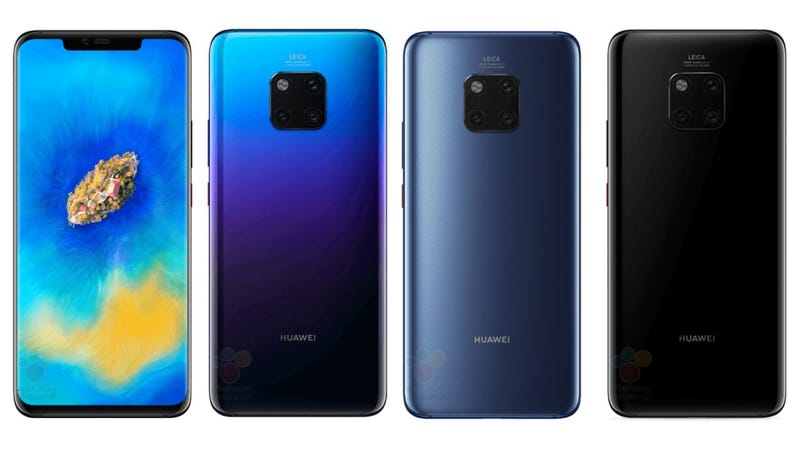 Illustration for article titled El Huawei Mate 20 Pro se ha filtrado y en Samsung deben de estar un poco preocupados