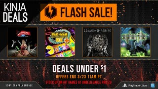Illustration for article titled Sony's Flash Sale Has Dozens of PlayStation Games For Under $1