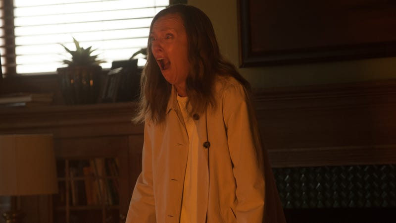 Toni Collette, star of Hereditary, making the same face you made while watching Hereditary.