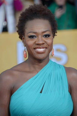 Viola Davis arrives for the 19th Screen Actors Guild Awards on Jan. 27, 2013, at the Shrine Auditorium in Los Angeles.JOE KLAMAR/AFP/Getty Images