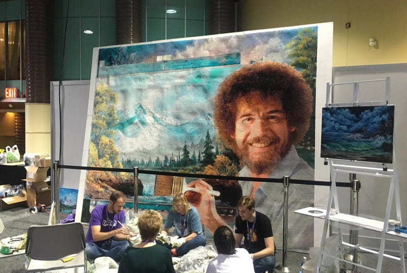 Illustration for article titled The Story Behind TwitchCon's Giant Bob Ross