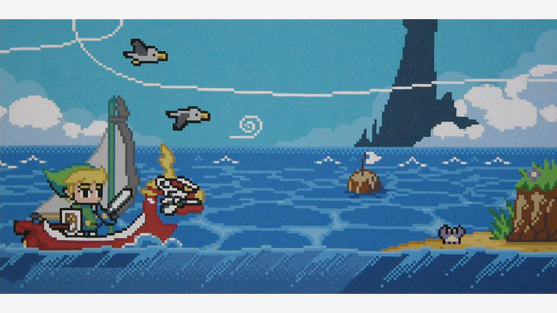 Illustration for article titled If The Legend of Zelda: The Wind Waker Were A Classic Platformer