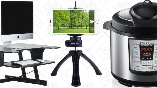 Today's Best Deals: Standing Desk, Pressure Cooker, Mini Tripod, and More