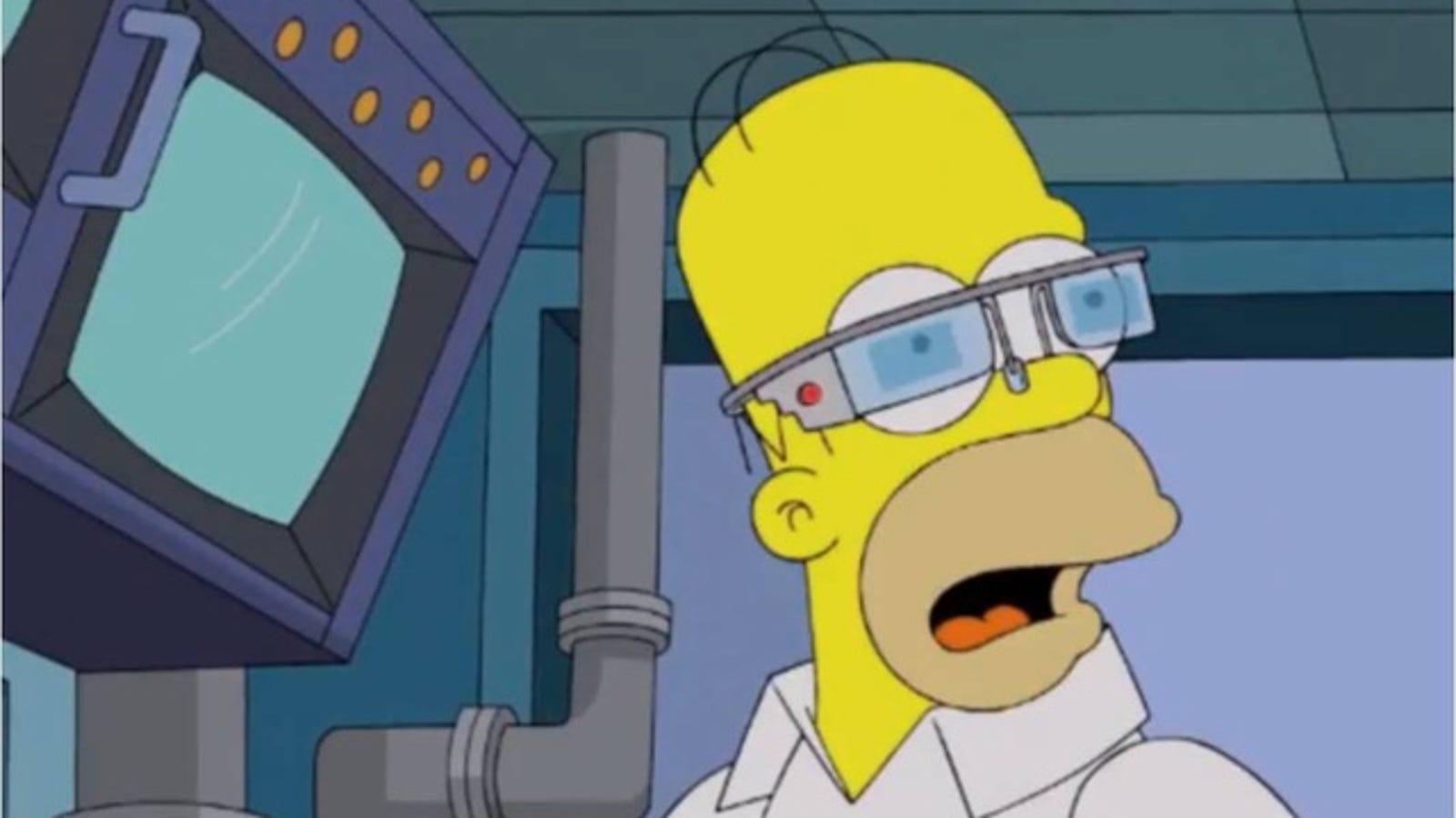 Los Simpson demuestran lo ridículas que podrían ser las Google Glass