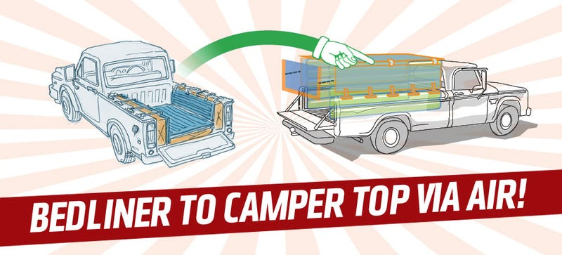 Illustration for article titled Is This Inflatable Bedliner/Camper Shell Revolutionary Or Idiotic?