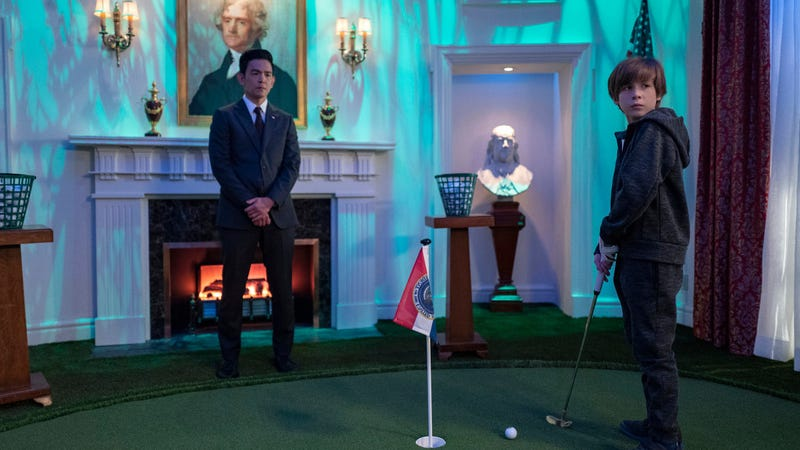 "John Cho and Jacob Tremblay in ""The Wunderkind."""