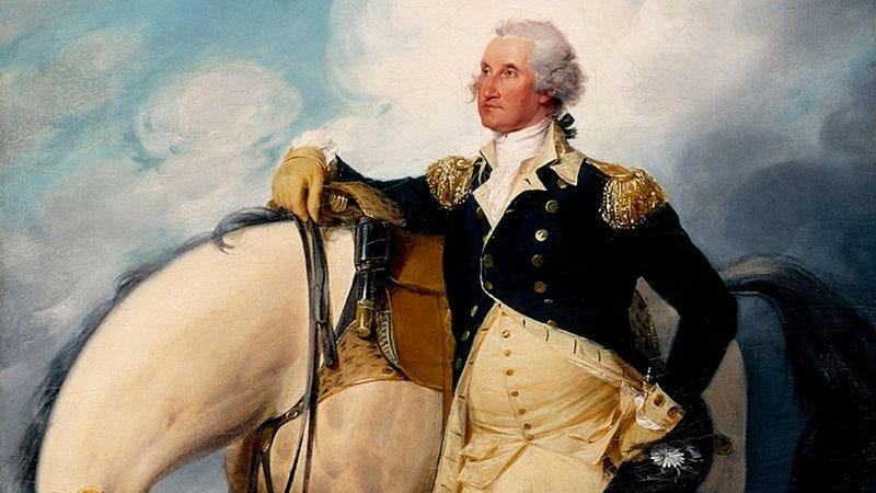 Washington at Verplanck's Point by John Trumbull.