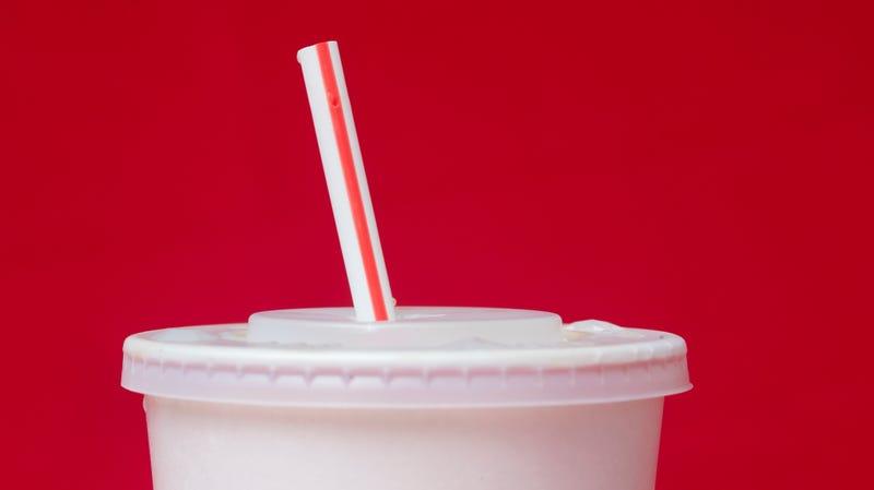 A plastic McDonald's straw.