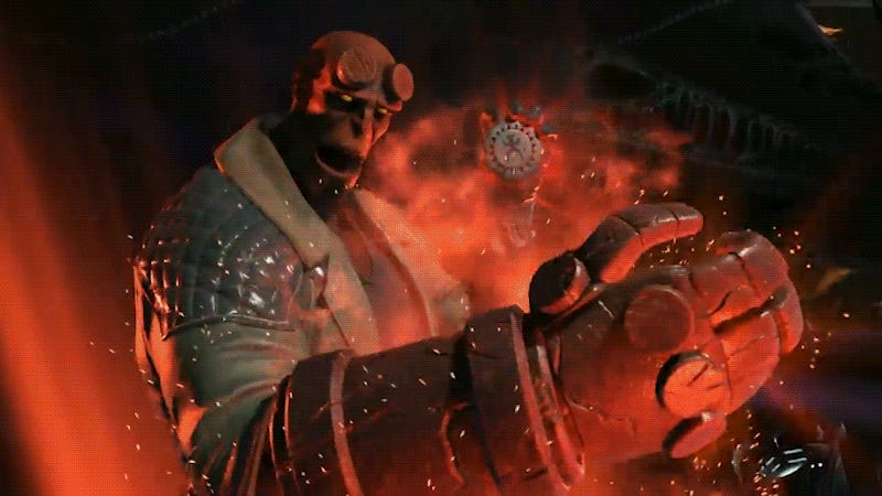 Watch the Injustice 2 Hellboy Gameplay Trailer