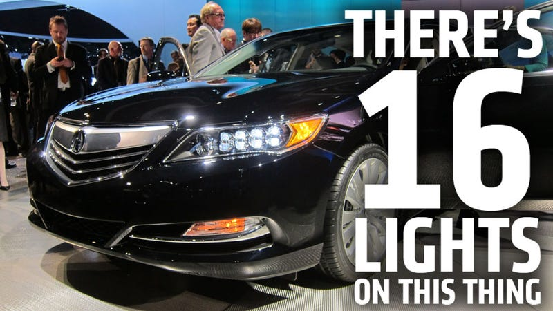 Illustration for article titled Acura RLX: This Thing Has Sixteen Freaking Headlights