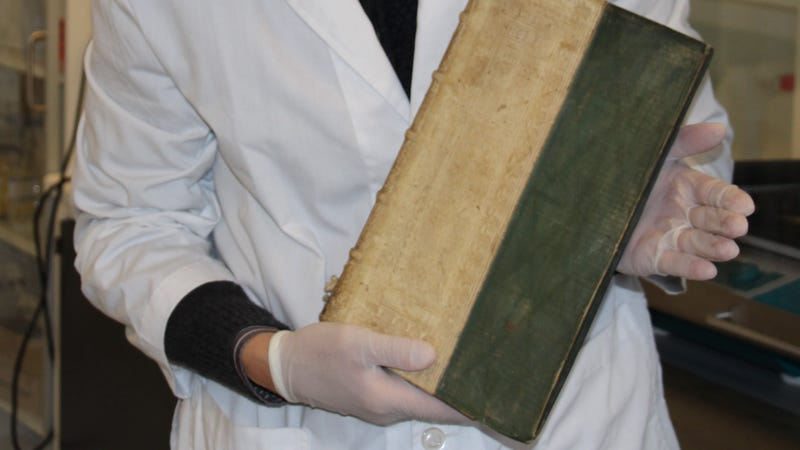 One of three poisonous books found in a University of Southern Denmark library.