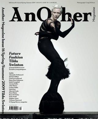 Illustration for article titled Tilda Swinton Dresses To Impress; Let Us Now Praise Great London Fashion