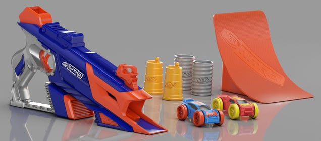 Nerf s New Blasters Shoot Tiny Foam Cars Instead of Darts