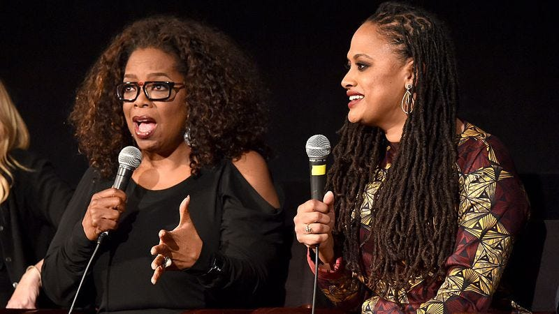 SELMA actress/producer Oprah Winfrey and director Ava DuVernay. (Photo: Alberto E. Rodriguez / Getty Images)