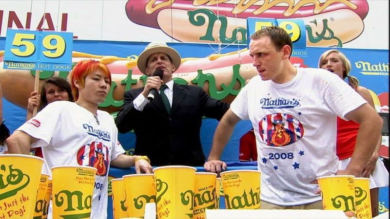 Takeru Kobayashi, Joey Chestnut