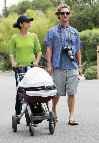 Illustration for article titled Camilla Tells Matthew To Stop Preening And Push The Stroller