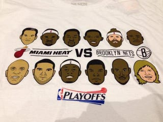 Illustration for article titled Nets Sell T-Shirts With Andrei Kirilenko Looking Like Martha Stewart