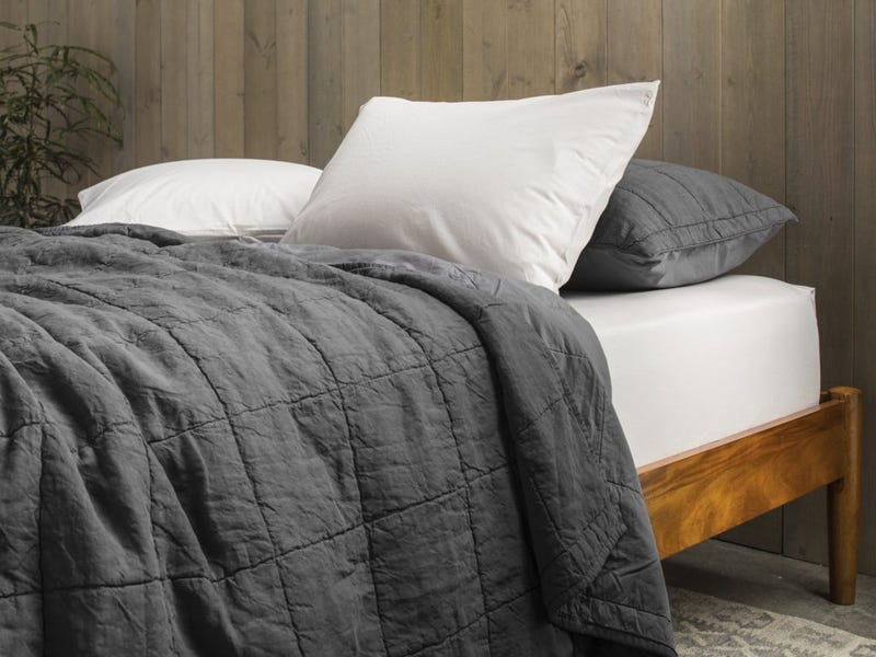 Lovely Parachute us Essential Quilt is Just the Right Amount of Weight and Texture