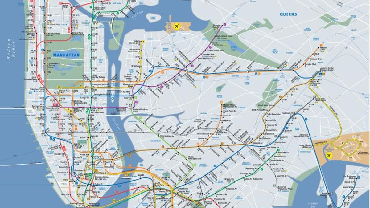 Mta Subway Map In 1990.15 Subway Maps That Trace Nyc S Transit History